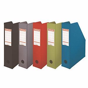 10 documentenhouders rug 7 cm in PVC Esselte geassorteerde klassieke kleuren