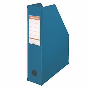 10 documentenhouders rug 7 cm in PVC Esselte klassieke kleuren blauw