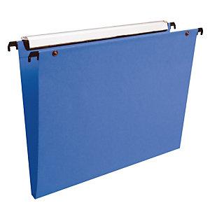 10 dossiers en polypropylène fond 15 mm Esselte pour tiroirs coloris bleu