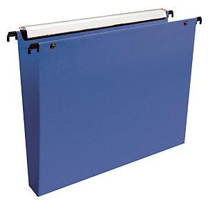 10 dossiers en polypropylène fond 30 mm Esselte pour tiroirs coloris bleu