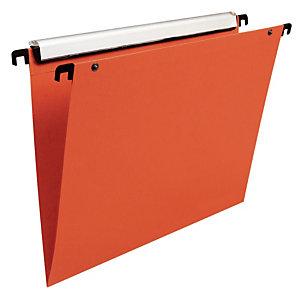 10 dossiers en polypropylène fond V  Esselte pour tiroirs coloris orange