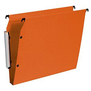 10 dossiers en polypropylène fond 15 mm Esselte pour armoires coloris orange