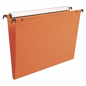 10 dossiers en polypropylène fond 15 mm Esselte pour tiroirs coloris orange