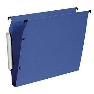 10 dossiers en polypropylène fond 30 mm Esselte pour armoires coloris bleu