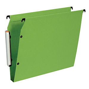 10 dossiers en polypropylène fond 30 mm Esselte pour armoires coloris vert