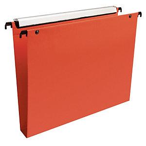 10 dossiers en polypropylène fond 30 mm Esselte pour tiroirs coloris orange
