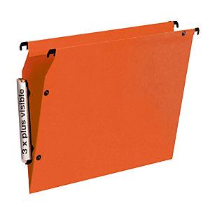 10 dossiers en polypropylène fond V  Esselte pour armoires coloris orange