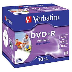 10 DVD+R 4,7 Go Verbatim AZO 16x imprimables
