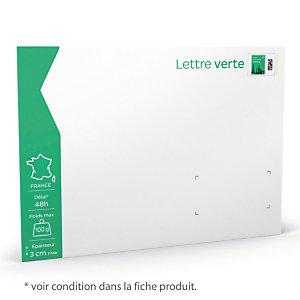 10 enveloppes prêt à poster 100 g Lettre Verte format 229 X 324 mm