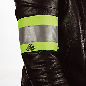 10 gele signalisatie armbanden groen