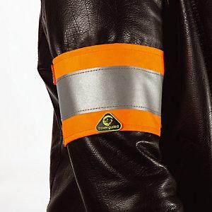 10 gele signalisatie armbanden oranje