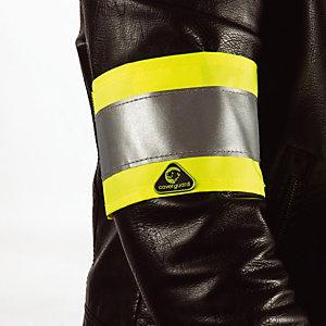 10 gele signalisatie armbanden