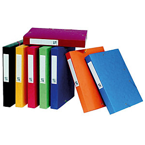 10 kaften met elastiek Cartobox 7/10e rug 4 cm geassorteerde kleuren