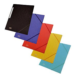 10 kaften met elastieken en 3 kleppen Eurofolio geassorteerde kleuren