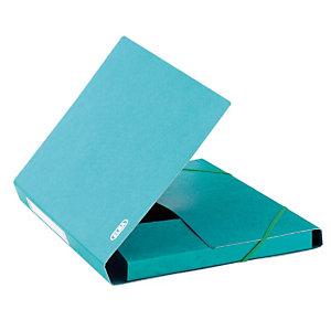 10 kaften met elastieken en 3 kleppen Eurofolio Prestige karton 7/10e - 600 g kleur groen