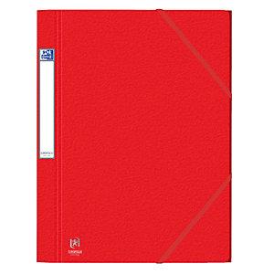 10 kaften met elastieken en 3 kleppen Eurofolio Prestige karton 7/10e - 600 g kleur rood