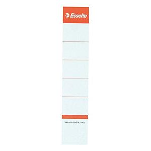 10 kartonnen etiketten voor ringmap met hendel rug 5 cm