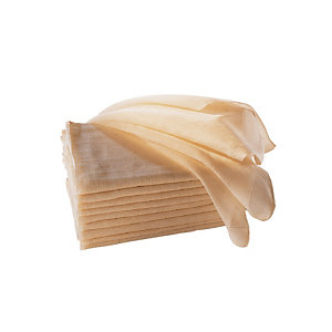 10 katoenen gaasdoeken voor franjeborstel 100 cm