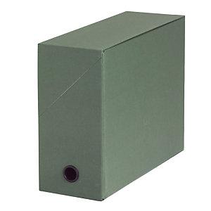 10 klasseerdozen in karton rug 12 cm kleur groen