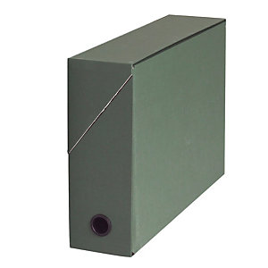 10 klasseerdozen in karton rug 9 cm kleur groen