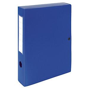 10 klasseerdozen rug 6 cm polypropyleen kleur blauw
