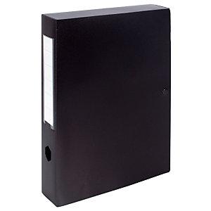 10 klasseerdozen rug 8 cm polypropyleen kleur zwart