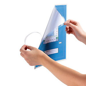 10 manuele plastificeerhoesjes formaat A4 zelfklevende rug Durable, per set