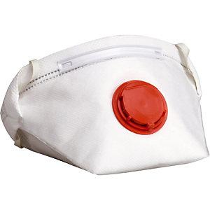 10 masques de protection pliables FFP3 avec soupape, DeltaPlus
