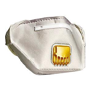 10 masques de protection pliants à usage court FFP2 avec valve, contre les vapeurs organiques, DeltaPlus