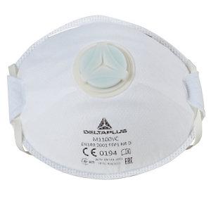 10 masques de protection à usage court FFP1 avec soupape, DeltaPlus