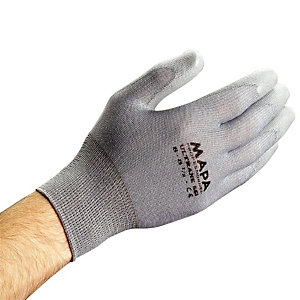 10 paar grijze handschoenen voor delicate verrichtingen Ultrane 551 Mapa, maat 8