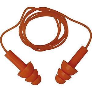 10 paires de bouchons d'oreilles avec cordon ConicFit10 DeltaPlus
