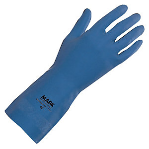 10 paires de gants alimentaires Mapa Superfood 177 bleus manipulations courantes taille 8
