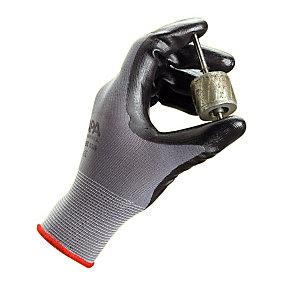 10 paires de gants manipulation fine en milieu huileux et sale Ultrane nitrile sans picots taille 8