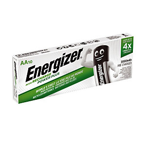 10 Piles rechargeables Energizer AA - HR06 2000 mAh Ni-MH