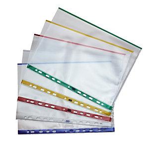 10 pochettes polypropylène à bords colorés 9/100e Elba
