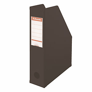 10 porte revues dos 10 cm en PVC Esselte coloris classique noir