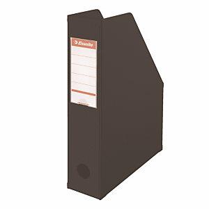 10 porte revues dos 7 cm en PVC Esselte coloris classique noir