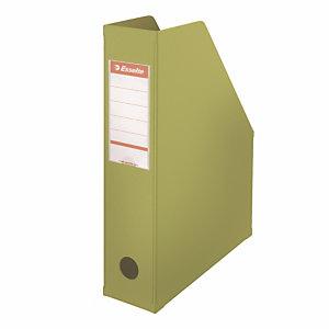 10 porte revues dos 7 cm en PVC Esselte coloris classique vert