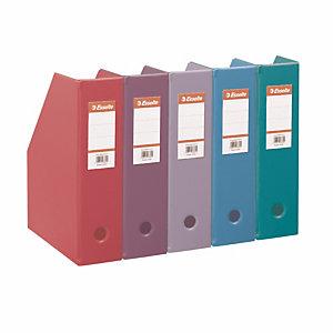 10 porte revues dos 7 cm en PVC Esselte coloris fun assortis
