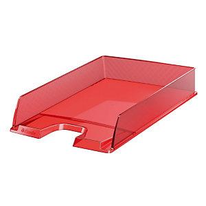 10 postklasseerbakjes Europost doorschijnend gamma kleur rood