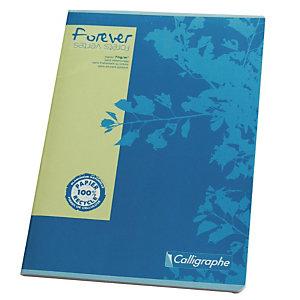 10 schriften met doorgestikte inbinding 96 pagina's 5 x 5 formaat A4 Forever geassorteerde kleuren, per set