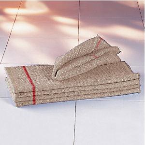 10 serpillères gaufrées grises 100 x 55 cm découpables