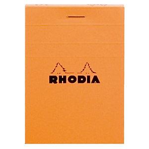 10 vastgeniete blokken Rhodia A7 niet-geperforeerd model liniëring 5 x 5