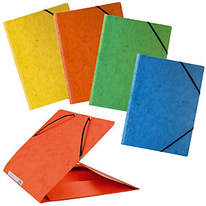 10 voordelige mappen met elastiek en 3 kleppen geassorteerde kleuren
