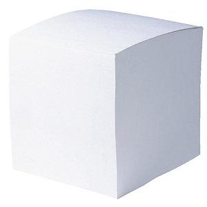 10 voordelige memoblokken formaat 9 X 9 X 9 kleur wit, per set