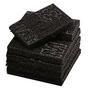 10 zwarte sponzen voor intensief schuurwerk Scotch-Brite 16 x 9,5 cm
