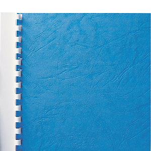 100 couvertures aspect grain cuir coloris bleu