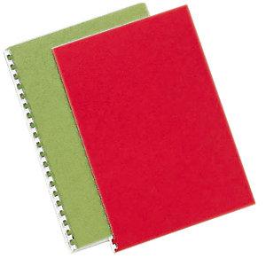 100 couvertures aspect grain cuir coloris rouge