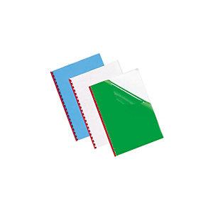 100 couvertures transparentes vertes 20/100e
